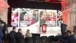 Conferință de presă susținută de candidatul PSD la alegerile prezidențiale, Viorica Dăncilă