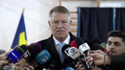 Declarații de presă susținute de Președintele României, Klaus Iohannis, în urma participării la votul pentru turul al doilea al alegerilor prezidențiale