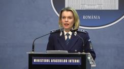 Declarații de presă ale reprezentanților Ministerul Afacerilor Interne privind desfășurarea alegerilor pentru Președintele României din 24 noiembrie 2019 (ora 19.15)