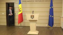 """Conferință de presă susținută de deputații Fracțiunii PAS, Dan Perciun și Mihai Popșoi, de prezentare a pachetului legislativ """"Pensii Corecte pentru Toți"""""""
