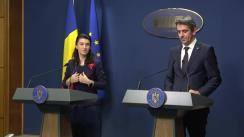 Declarații de presă susținute de ministrul muncii și protecției sociale, Violeta Alexandru, și șeful Cancelariei prim-ministrului, Ionel Dancă, la finalul reuniunii Consiliul Național Tripartit pentru Dialog Social