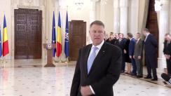 Declarațiile de presă susținute de Președintele României, Klaus Iohannis, la finalul ceremoniei de decorare a domnului Ivan Patzaichin