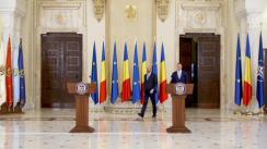 Declarație de presă susținută de Președintele României, Klaus Iohannis, și Președintele-ales al Consiliului European, Charles Michel