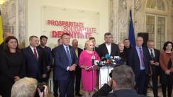 Declarații de presă ai membrilor Partidului Social Democrat după Comitetul Executiv