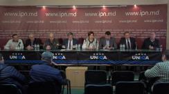 """Conferința de presă organizată de Sfatul Țării cu tema """"Manifestație de Ziua Națională a României"""""""
