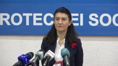 Conferință de presă susținută de Ministrul Muncii și Protecției Sociale, Violeta Alexandru, privind situația întârzierilor dosarelor de recalculare a pensiilor