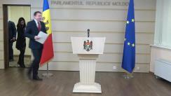 Conferință de presă susținută de Președintele Comisiei economie, buget și finanțe, Igor Munteanu