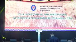 Ceremonia festivă consacrată Zilei Lucrătorului din Agricultură și Industria Prelucrătoare