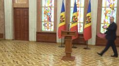 Declarațiile Președintelui Republicii Moldova, Igor Dodon, după ședința Consiliului Suprem de Securitate din 4 decembrie 2019