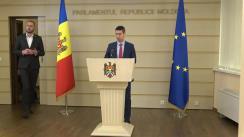 Declarație presă susținută de către deputații Blocului ACUM în timpul ședinței Parlamentului Republicii Moldova din 5 decembrie 2019