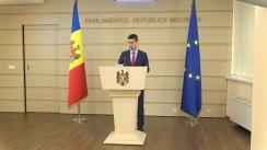 Briefing susținut de Președintele Comisiei de anchetă pentru elucidarea circumstanțelor de fapt și de drept privind tentativa de puci anticonstituțional întreprinsă de Partidul Democrat din Moldova prin intermediul Curții Constituționale și al Procuraturii Generale, Mihai Popșoi
