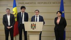 Briefing de presă susținut de Natalia Gavrilița, Ministrul Finanțelor în cadrul Guvernului Sandu, și deputații PAS