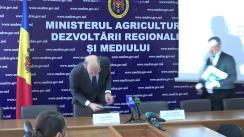 """Conferința de presă organizată de Ministerul Agriculturii, Dezvoltării Regionale și Mediului cu tema """"Valorificarea Fondului Ecologic Național - realități și perspective"""""""