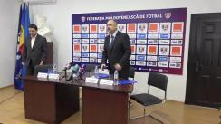 """Conferință de presă organizată de Federația Moldovenească de Fotbal privind Campania socială """"Fotbal în școli"""""""