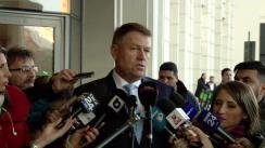 Declarații de presă susținute de Președintele României, Klaus Iohannis, înaintea participării la Adunarea Generală a Asociației Municipiilor din România