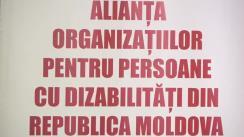 """Conferința de presă organizată de Alianța Organizațiilor pentru Persoane cu Dizabilități din Republica Moldova cu tema """"Rezultatele monitorizării documentelor de politici privind incluziunea socială a persoanelor cu dizabilități"""""""