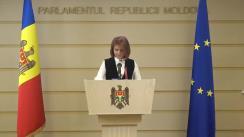 Briefing susținut de deputata Fracțiunii ACUM Platforma DA, Arina Spătaru, privind avizul Guvernului la proiectul legii privind statutul municipiului Bălți