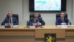 """Briefing de presă organizat de Inspectoratul General al Poliției cu tema """"Destructurarea unei rețele de traficanți de cocaină din America de Sud în Europa"""""""