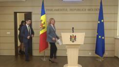 Conferință de presă susținută de Președinta Comisiei drepturile omului și relații interetnice, Doina Gherman și Vicepreședintele Parlamentului Republicii Moldova, Mihai Popșoi