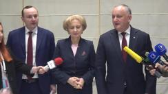 Declarații după ședința Consiliului Republican al Partidului Socialiștilor din Republica Moldova