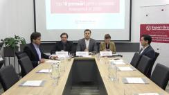 """Conferința de presă organizată de Centrul Analitic Independent """"Expert-Grup"""" cu tema """"Top 10 evenimente economice ale anului 2019 și top 10 provocări pentru 2020"""""""