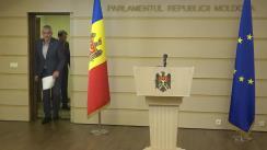 Conferință de presă susținută de Fracțiunea ACUM Platforma DA privind situația de la Aeroportul Internațional Chișinău