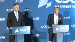 Declarație de presă susținută de Președintele României, Klaus Iohannis, și Președintele grupului parlamentar CSU, Alexander Dobrindt