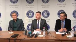 Conferința de presă organizată de Ministerul Culturii privind desfășurarea evenimentelor din 15 ianuarie, cu ocazia Zilei Culturii Naționale
