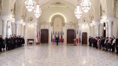 Ceremonia de decorare a unor personalități din domeniul culturii de către Președintele României, Klaus Iohannis