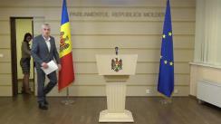 Conferință de presă susținută de Vicepreședintele Parlamentului Republicii Moldova, Alexandru Slusari