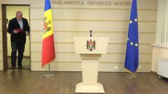 Declarație de presă susținută de către deputatul PSRM, Vasile Bolea