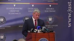 Declarație de presă susținută de Ministrul Justiției al României, Cătălin Predoiu