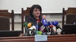 Briefing de presă susținut de Ministrul Sănătății, Muncii și Protecției Sociale, Viorica Dumbrăveanu, privind implementarea inițiativelor sociale aprobate la sfârșitul anului 2019