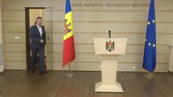 Conferință de presă susținută de deputații Fracțiunii ACUM Platforma DA, Vasile-Andrei Năstase și Dinu Plîngău