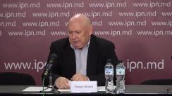 """Conferința de presă susținută de Fiodor Ghelici, președintele Asociației obștești """"Moldova mea"""", cu tema """"Președintele Dodon comite crimă împotriva statului, anunțând despre vinderea Întreprinderii de Stat """"Metalferos"""""""