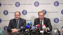 Conferință de presă susținută de Ministrul Sănătății din România, Victor Costache