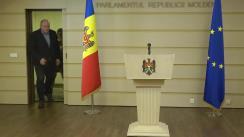 Briefing susținut de Vicepreședintele Comisiei de anchetă pentru elucidarea circumstanțelor de fapt și de drept privind tentativa puciului anticonstituțional a Partidului Democrat realizată prin intermediul Curții Constituționale și a Procuraturii Generale, Vasile Bolea