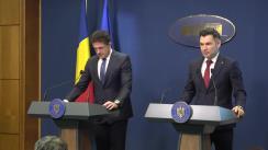 Conferință de presă susținută de ministrul Tineretului și Sportului din România, Ionuț  Stroe, și consilierul onorific al prim-ministrului României cu atribuții privind organizarea Euro 2020, Gheorghe Popescu