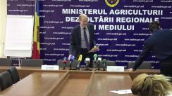 """Conferință de presă organizată de Ministerul Agriculturii Dezvoltării Regionale și Mediului împreună cu Agenția de Intervenție și Plăți pentru Agricultură cu tema """"Mijloacele Fondului Național de Dezvoltare a Agriculturii și Mediului Rural pentru anul 2020 și principiile de subvenționare"""""""