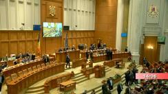 Ședința comună a Camerei Deputaților și Senatului României din 3 februarie 2020. Prezentarea Moțiunii de cenzură inițiate de 208 deputași și senatori