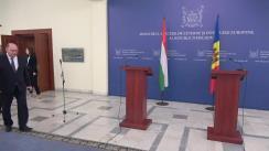 Conferință de presă susținută de Ministrul Afacerilor Externe și Integrării Europene al Republicii Moldova, Aureliu Ciocoi, și Ministrul Afacerilor Externe și Comerțului al Ungariei, Péter Szijjártó