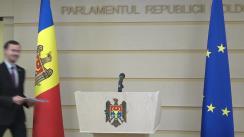 Briefing susținut de către deputatul Fracțiunii ACUM Platforma DA, Dinu Plîngău