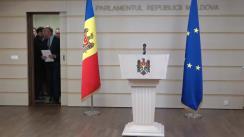 Briefing de presă organizat de fracțiunea Partidului Democrat din Moldova privind prioritățile fracțiunii pentru sesiunea parlamentară de primăvară-vară