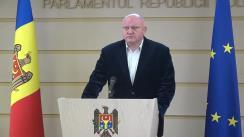 Briefing susținut de Președintele Comisiei juridice, numiri și imunități, Vasile Bolea