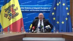 Conferință de presă susținută de Ministrul Afacerilor Externe și Integrării Europene a Republicii Moldova, Aureliu Ciocoi
