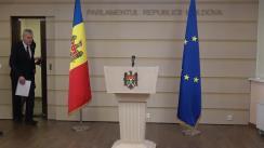 Briefing susținut de Vicepreședintele Parlamentului Republicii Moldova, Alexandru Slusari, împreună cu un avocat ucrainean