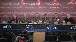 """Conferința de presă organizată de Grupul de Inițiativă cu tema """"Veteranii convoacă Adunarea Generală a Veteranilor în Piața Marii Adunări Naționale"""""""