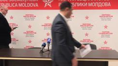 Briefing de presă organizat de Partidul Socialiștilor din Republica Moldova