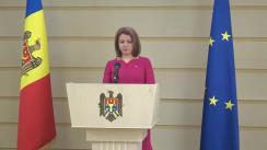 Briefing de presă susținut de către deputata Fracțiunii Blocul ACUM Platforma DA, Arina Spătaru, cu privire la statutul municipiului Bălți