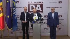 Conferință de presă susținută de președintele Platformei DA, Andrei Năstase